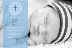 Baptism/Christening Boy - Photo Invitation DIGITAL FILE
