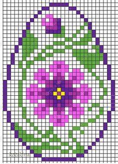 Cross Stitch Sea, Cross Stitch Geometric, Cross Stitch Alphabet, Cross Stitch Charts, Cross Stitch Patterns, Cross Stitching, Cross Stitch Embroidery, Easter Egg Pattern, Rainy Day Crafts