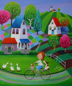 View Iwona Lifsches's Artwork on Saatchi Art. Find art for sale at great prices from artists including Paintings, Photography, Sculpture, and Prints by Top Emerging Artists like Iwona Lifsches. Art And Illustration, Illustrations, Art Fantaisiste, Art Mignon, Original Art For Sale, Naive Art, Whimsical Art, Fine Art Paper, Cute Art