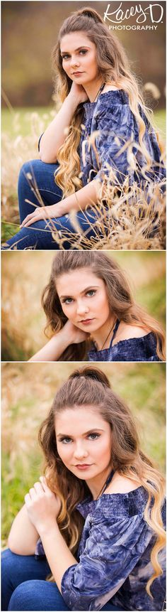 Tall Grass Senior Picture Ideas - Photographer Columbia MO Kacey D Photography