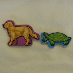 Animals Magnets (20 pieces) -- (P*.6) pig, sheep, horse, cow, rabbit, rooster, tiger, monkey, elephant, giraffe, duck, dog, goat, cat, frog, turtle, lion, goldfish, panda and zebra