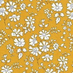 Liberty Fabric Capel G Tana Lawn Half Yard Mustard Yellow