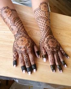 Rose Mehndi Designs, Unique Mehndi Designs, Latest Mehndi Designs, Stylish Mehndi, Flower Henna, Best Mehndi, Bridal Henna, Cute Makeup, Mehendi