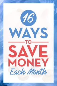 How To Save Money Each Month: Yep, I love saving money. So I started building up a list of the very ways to save money every month. Hope you love my list of 16 best ideas. #save #money #savemoney #makemoney #savingmoney http://www.dadshustle.com/how-to-save-money-each-month/