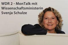 WDR 2 -MonTalk mit Wissenschaftsministerin Svenja Schulze am 15.04. ab 19.05 Uhr