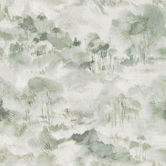 Scott Living Nara Sage Toile Wallpaper in Green   2975-87547