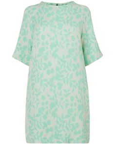 New In: Clothing | Green Harriet Jacquard Dress | Phase Eight