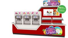 Self-serve frozen yogurt kiosks from Alpine Freezer are available with $0 down financing and payments as low as $9/day.  | http://www.alpinefreezer.com/conveincestoregasstation/