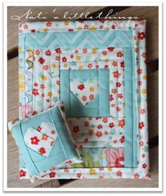 In love paper pieced needle case from Nati's Little Things