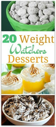 20 Delicious Weight Watchers Desserts Recipes You'll Love No matter what you're craving while on Weight Watchers, there is a recipe for you to try. Using a dessert recipe that includes point value means you can enjoy it and lose that weight without worry. Desserts Pauvres En Calories, Low Calorie Desserts, Ww Desserts, No Calorie Foods, Healthy Dessert Recipes, Low Calorie Recipes, Delicious Desserts, Low Calorie Snacks Sweet, Low Calorie Cookies