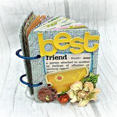 BEST FRIEND A-Z Friendship 3 1/4x 4 1/4 Mini Album by Papersilly