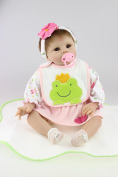 86.40$  Watch here - http://ali8ga.worldwells.pw/go.php?t=2042573486 - New commodity, 55cm silicone reborn baby doll toys, birthday gift for child kid, play hours doll reborn girls brinquedos
