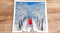 Winter Beauty  Landscape Acrylic Painting   Joy of Art #201 Acrylic Painting Canvas, Canvas Art, Winter Beauty, Winter Landscape, Painting & Drawing, Joy, Drawings, Winter Scenery, Glee