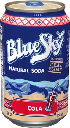 Blue Sky Cola, 12 Ounce Cans (Pack of 24) Blue Sky