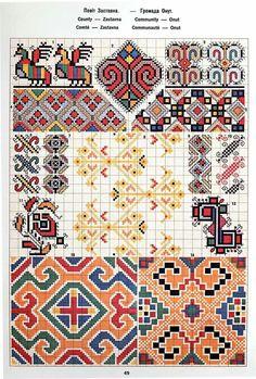 Ukrainian and Romanian embroidery of Bukovyna-Bucovina Chain Stitch Embroidery, Learn Embroidery, Embroidery Stitches, Embroidery Patterns, Hand Embroidery, Cross Stitch Patterns, Stitch Head, Hungarian Embroidery, Embroidery Techniques