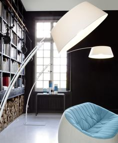 Ouverture floor lamp designed by Philippe Daney for Ligne Roset. | Available at Linea Inc. Modern Furniture Los Angeles. (www.linea-inc.com / info@linea-inc.com) #modernfurniture #interiordesign
