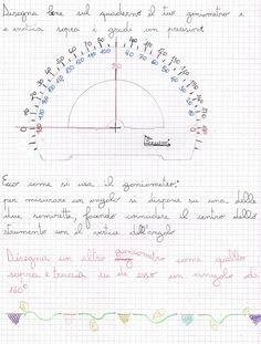 Misurazione degli angoli Kindergarten Math, Teaching Math, Homeschool, Bullet Journal, Coding, Education, Products, Solid Geometry, Trigonometry