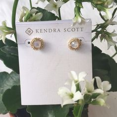 Kendra Scott 'Carly' Studs Beautiful, new 'Carly' mother of pearl studs. (Price tag removed from card) Kendra Scott Jewelry Earrings