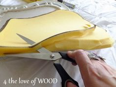 4 the love of wood: HOW TO UPHOLSTER AN OPEN CHAIR BACK - step II