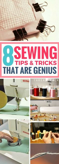 These sewing hacks are seriously AMAZING! Can't believe I missed out on them all this time. Sewing tips and tricks that will really help you out. Definitely going to try them out soon.