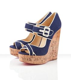 Christian Louboutin Melides 140mm Wedges Navy