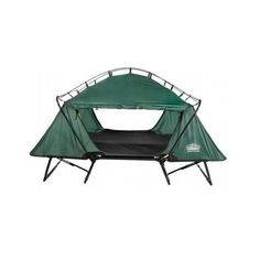Heavy Duty Elevated Camping Double Nylon Tent Cot Hut Hiking Shelter w/Rain Fly