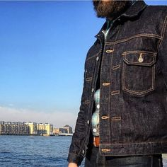 """okayamadenim: """"Reminding us why we fell in love with that Slub Selvedge in the first place, this regram from the homie is the most honest representation of the highly detailed and incredible Type II Selvedge Jacket by PBJ. Under My Skin, Raw Denim, We Fall In Love, Vest Jacket, The Incredibles, Mens Fashion, Vintage Denim, Vests, Jackets"""