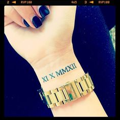 Roman Numeral tattoo. Put a special date in roman numerals to remember it forever.