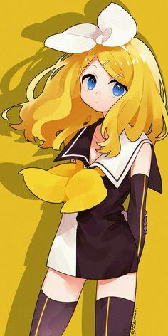 Meltdown - Kagamine Rin Kawaii Anime Girl, Anime Art Girl, Manga Art, Rin E Len, Vocaloid Characters, Estilo Anime, Beautiful Anime Girl, Anime Chibi, Anime Style
