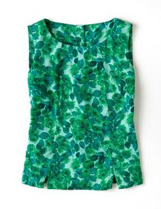 Silky Vintage Top. Love this style of tank, has bottoms down the back.