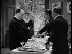 """Hitchcock's cameo in """"Notorious"""" (1946)"""