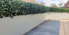 Artificial Buxus Hedging is very common, we however also use other Artificial Foliages such as this Artificial Bay Hedge which gives you a totally different look