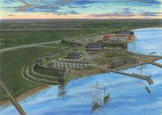 Roman Fort at Velsen on the Rhine by Graham Sumner
