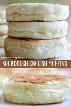 Dough Starter Recipe, Sourdough Starter Discard Recipe, Starter Recipes, Sour Dough Starter, Sourdough English Muffins, Homemade English Muffins, Pain Artisanal, Pan Cetogénico, English Muffin Recipes