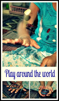A collection of play ideas from around the world. Simple play and a great learning opportunity.