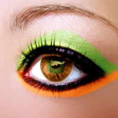 Making these eyes. Made on Gimp Stock by ~erykuc. Gem Makeup, Visual System, Color Me Beautiful, Eye Art, Green And Orange, Color Blocking, Make Up, Shades, Manicure
