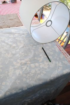 Beach Vintage: Project Day: Recovering Lamps
