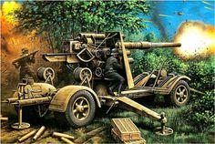 La Pintura y la Guerra. Sursumkorda in memoriam Military Weapons, Military Art, Military History, German Soldiers Ww2, German Army, Diorama Militar, Tank Wallpaper, Tank Warfare, Military Drawings