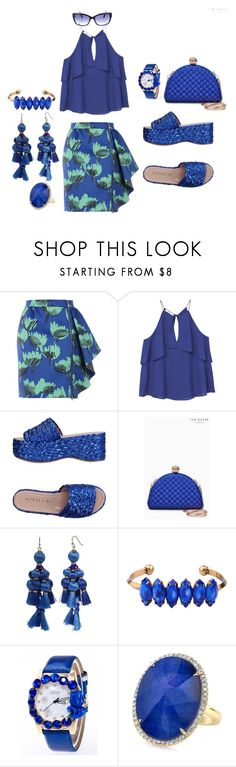 """Meeting my sisters for a drinks"" by blujay1126 ❤ liked on Polyvore featuring Boutique Moschino, MANGO, Aperlaï, Ted Baker, Kate Spade and WithChic"
