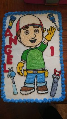Handy manny sheet cake