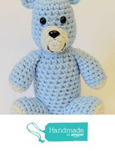 Teddy Bear Stuffed Animal - Crochet Plush Toy from Simply Hooked https://www.amazon.com/dp/B01KHWNKG6/ref=hnd_sw_r_pi_dp_M-2iyb559V2FH #handmadeatamazon