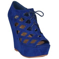 @Overstock - Neway by Beston 'Adela' platform wedges feature a cutout faux suede upper and chic lace-up front. The shoes balance on a chunky four-inch wedge heel and a one-inch platform.http://www.overstock.com/Clothing-Shoes/Neway-by-Beston-Womens-Adela-Blue-Wedges-Sandals/6677744/product.html?CID=214117 $34.99