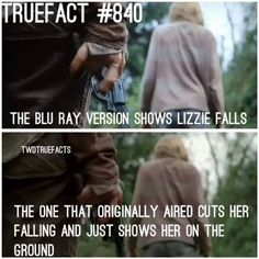 Really? I want to see Lizzie fall!
