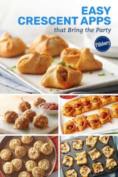 These crescent-wrapped apps are stuffed with so much flavor that you will be questioning your loyalty to the main course. Appetizer Recipes, Snack Recipes, Cooking Recipes, Creasant Roll Recipes, Pillsbury Crescent Recipes, Cooking With Ground Beef, Sandwiches, Salsa, Football Food