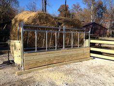Klene Pipe's BK-6 Fence Line Cattle Hay Feeder - 12' Model