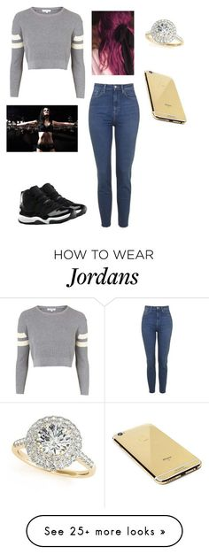 """""""Commentary Smackdown with Paige"""" by wwebrielle on Polyvore featuring moda, Topshop, Allurez, NIKE y Goldgenie"""