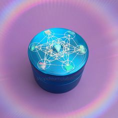cosmicdreamclub:custom opal metratron's cube herb grinder   design your own on shopdreamclub.com~*~