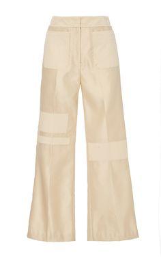 Dutchess Satin Distressed Flare Pant by EDUN  for Preorder on Moda Operandi