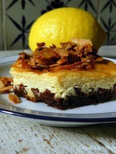 """Mini cheesecakes au chocolat et citron de Babeth du blog """"Babeth's cuisine"""""""