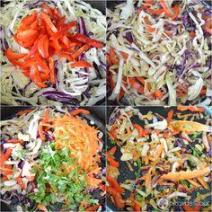 Ensalada de col guisada estilo oriental www.pizcadesabor.com
